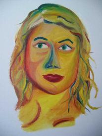 Expressionismus, Selbstportrait, Malerei, Portrait