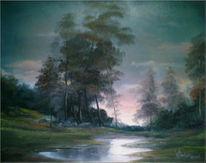 Sommerabend, Wasser, Nass, Malerei