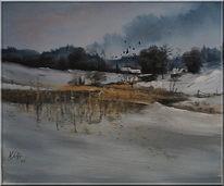 Nass, Malerei, Kalt, Schnee