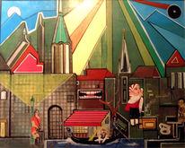 Altstadt köln hänneschen, Malerei, Köln, Altstadt
