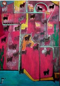 Spanien, Stier, Surreal, Malerei