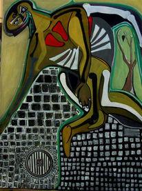 Tanz, Surreal, Straße, Malerei
