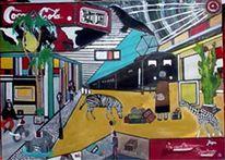 Surreal, Bundsbahn, Malerei, Reisetiere