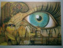 Braun, Malerei, Surreal, Wahrnehmung