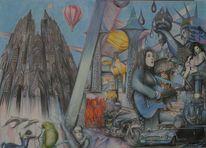 Surreal, Dom, Pesönlichkeitsbilder, Malerei