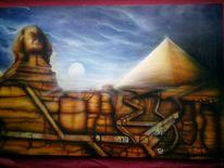 Cheops, Airbrush, Pyramide, Sphinx
