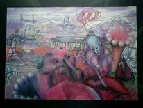 Geist, Malerei, Surreal, Gedanken