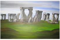 Landschaft, Stonehenge, Schottland, Malerei