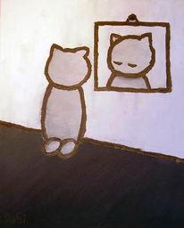 Spiegel, Spiegelbild, Malerei