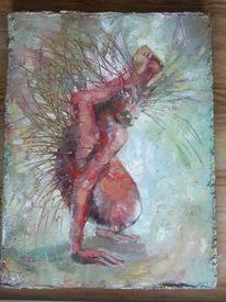 Malerei, Surreal, Igel, Gesund
