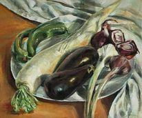 Stillleben, Malerei, Salat