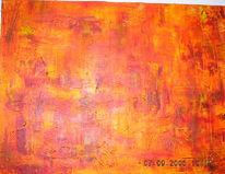 Abstrakt, Malerei, Gelb, Rot