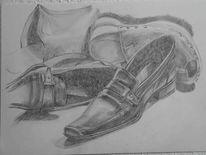 Schuhe, Zeichnung, Zeichnungen,