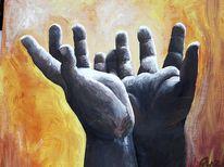 Hände, Malerei, Bitte, Figural