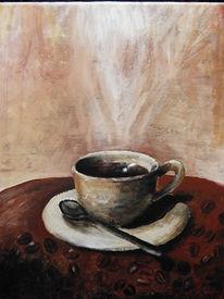 Braun, Stillleben, Kaffee, Malerei
