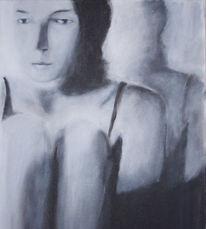 Spiegel, Figural, Frau, Malerei