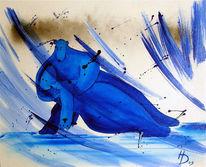Malerei, Leidenschaft, Tango, Bär