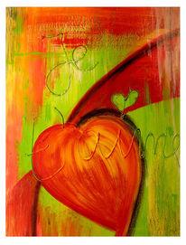 Malerei, Liebe, Herz, Abstrakt