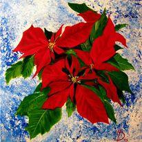 Weihnachten, Stillleben, Malerei, Blumen