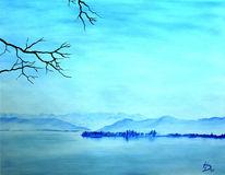 Meer, Berge, Blau, Landschaft