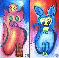 Malerei, Abstrakt, Maus