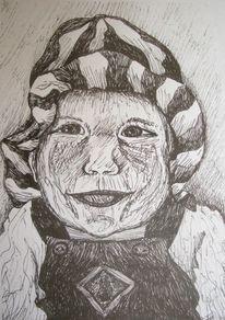 Skizze, Zeichnung, Zeichnungen, Selbstportrait