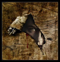 Angst, Surreal, Digital, Blick