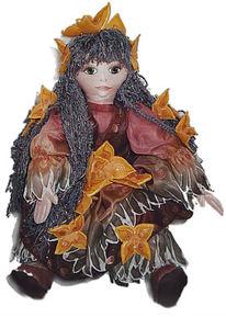 Seidenmalerei, Puppe, Textil, Seide