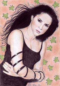 Zeichnung, Portrait, Zeichnungen, Blick