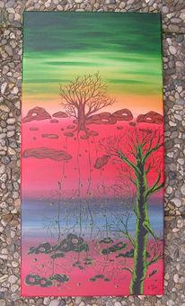 Abstrakt, Malerei, Hölle, Acrylmalerei