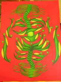 Hölle, Abstrakt, Malerei, Tanz