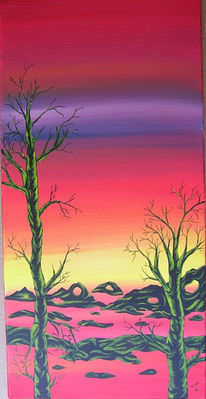 Surreal, Erde, Abstrakt, Malerei