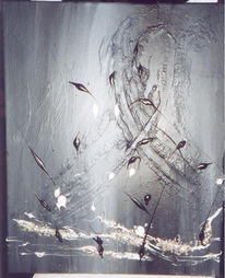 Grau, Abstrakt, Schwarz, Malerei