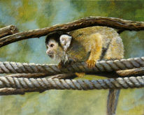 Realismus, Gemälde, Acrylmalerei, Tiere