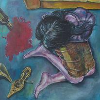 Schuhe, Frau, Erotik, Malerei