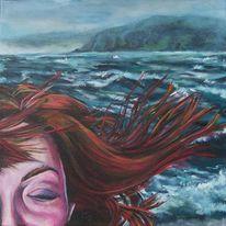 Sturm, Malerei, Blau, Meer
