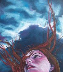 Harr, Malerei, Wind, Blau