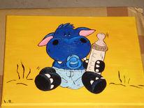 Malerei, Babynilpferd