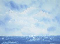 Landschaft, Malerei, Meer