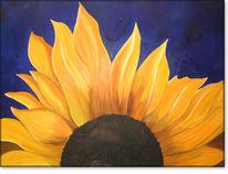 Sunnenblume, Sonnenblumen, Blüte, Malerei
