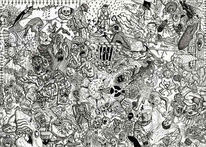 Malerei, Skizze, Welt, Frust