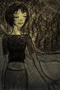Zeichnung, Traum, Sehnsucht, Skizze