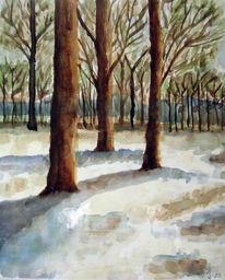Winterlandschaft, Landschaft, Schnee, Winter