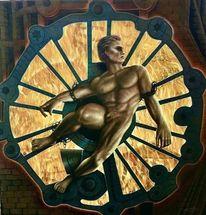 Gefesselter prometheus, Mann, Gemäldegalerie, Feuer