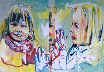Schwestern, Liebe, Malerei