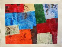 Abstrakt, Acrylmalerei, Spachtel, Gemälde