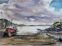 Fischerboot, Boot, Irland, Küste
