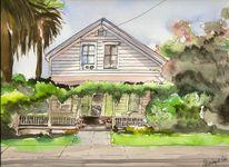Sebastopol, Kalifornien, Haus, Katze