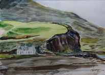 Watertwon kerry irland, Aquarell, Landschaften