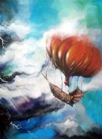 Sturm, Gewitter, Blitz, Luftschiff